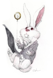 white-rabbit-tweedles-tell-a-story-by-bobby-chiu-at-arludik-gallery